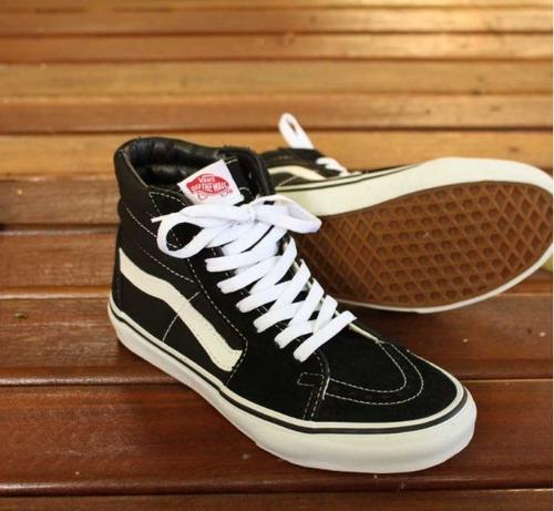 Tênis Vans Cano Alto Sk8 -hi Black white Original - R  289 5bcbd7095c717