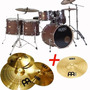 Bateria Legend Senior 6 Cuerpos+set Platos Meinl Hcs+splash