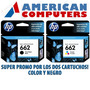 Combo Hp 662 Negro + Color Originales 3515 4645 1515 2545