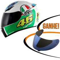 Capacete Agv K3 The Eye Valentino Rossi Branco