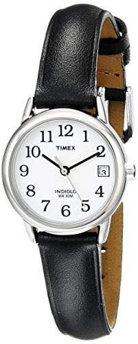 b1f9245d4919 Reloj Timex T2h331 Indiglo Con Correa De Cuero Para Mujer ...