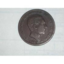 Muy Antigua Moneda Española 10 Céntimos 1879..