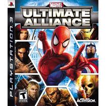 Jogo Marvel: Ultimate Alliance - Ps3 Lacrado Frete Gratis