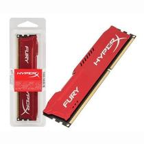 Memória Kingston 4gb 1600mhz Ddr3 Cl10 Dim Hyperx Fury Red