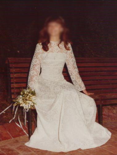 clásico vestido de novia en encaje de bruselas años 80 - $ 9.999,00