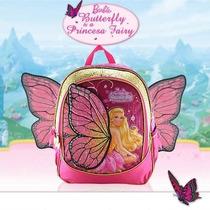 Mochila Costas Barbie Butterfly Asas Tam (m) Meninas Sestini
