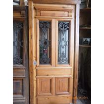 Puerta de madera estilo antiguo aberturas en mercado for Puertas de madera estilo antiguo
