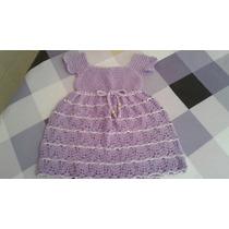 Vestido Tejido De Niña 2-3 Años