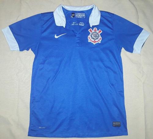 Camisa Corinthians Azul 100% Original Nike 2013   2014 - 58 - R  149 ... b898f8b08e89d
