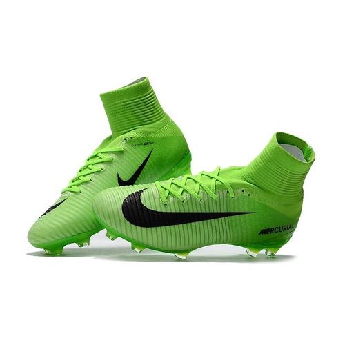 Chuteira Nike Mercurial Superfly V Verde Neon - Cr7 Original - R  518 fa287a26c16f5