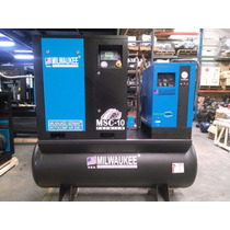 Compresor De Tornillo Milwaukee Secador/tanque Envio Gratis