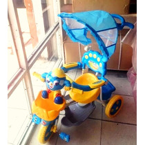 Triciclo Infantil Niño Comodidad Baby-madre Tapa Sol Musica