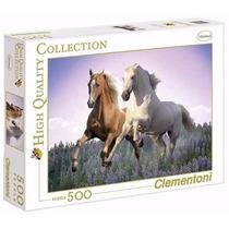 Quebra Cabeça Puzzle 500 Peças Cavalos Selvagem Animais