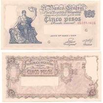 Billete 5 Pesos Progreso Numeros Rojos Bot 1865 Excelente