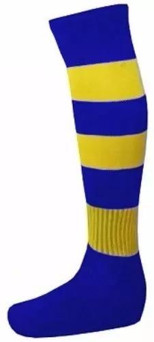 ... Diversas Cores fa0ab6fd6fac7b  Meião Kanxa Futebol Listrado Jogo  Uniforme Royal E Amarelo - R 21 66292d09bac27