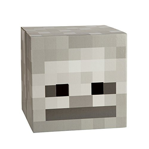 cabeza de cartón esqueleto de minecraft 150 900 en mercado libre