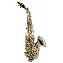 Saxofone Milano Soprano Curvo Bb Sib Custom Dois Tons . Loja