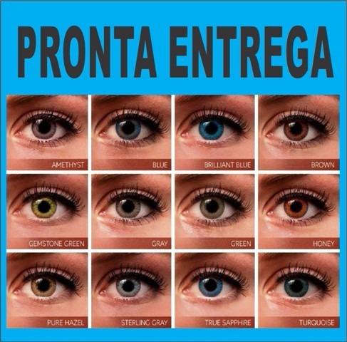 c9e5b21b82253 Lentes De Contato Anual Coloridas Lindas + Estojo Gratis - R  54