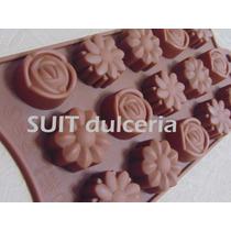 Molde Silicona Flores Varias-bombones-gelatina-jabones-hielo