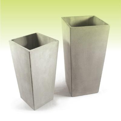 piramidal 50 x 25 - macetas de fibrocemento - cemento ref. - $ 281