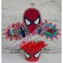 Centro De Mesa Hombre Araña Super Heroes Personalizados