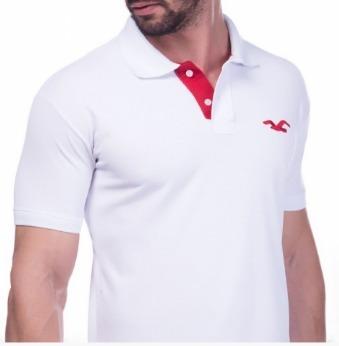 Camisa Polo Oficial Hollister Usa Original - R  299,00 em Mercado Livre ab3f3ce03e