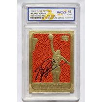 Michael Jordan Tarjeta Fleer 23kt Gold Rookie Signatures 10
