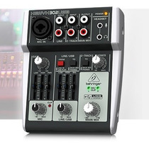 Mesa De Som Behringer Xenyx 302usb Mixer Interface De Áudio