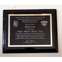 Grabado Sublimado Aluminio Diplomas Tamaño Media Carta