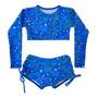 Azul estrelas coloridas