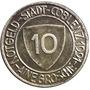 C C / Alemania Notgeld 10 Pfennig 1921 Stadt Coblenz