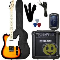 Kit Guitarra Strinberg Telecaster T-250s+ Cubo Mg10 Kadu Som