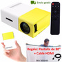 Mini Video Beam Proyector Led Usb Sd Gratis Telon Y Cable