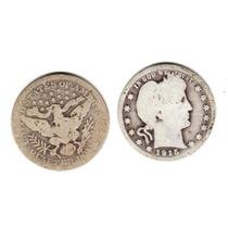 Moneda Estados Unidos 25 Centavos Plata Año 1915 Buena-