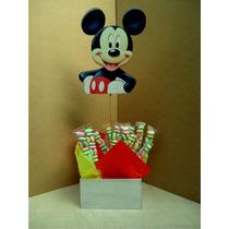 Centro De Mesa Madera Mdf Dulcero Caja Mikey Mouse