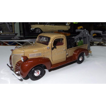1:24 Plymouth Pick Up 1941 Grua Cafe Motor Max C Caja
