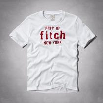 Abercrombie & Fitch - Camiseta Básica Com Bordado- Infantil