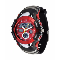 Relógio Mormaii 7870m Preto Vermelho !!novo!! Super Desconto