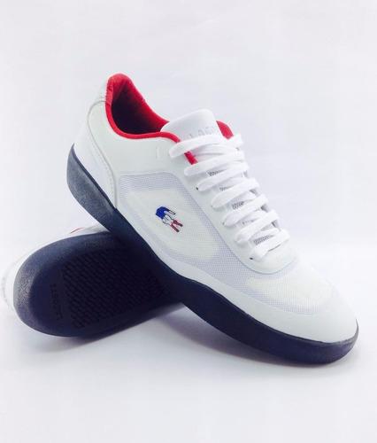 Tenis Sapatenis Lacoste Tramline Ortholite Original Promoção - R  189,99 em  Mercado Livre 3c27fa6290