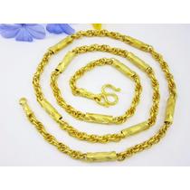 Único Enlace Cadena Collar Combinación Tailandés 22 1/2 22k