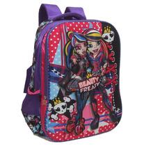 Mochila Escolar Infantil Feminina Monster High Em Relevo