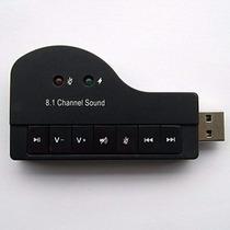 Placa De Som Usb 8.1 Canais 3d Adaptador Audio