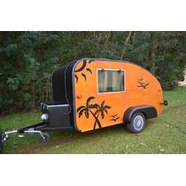 Mini Trailer Camper Estilo Teardrop