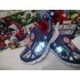 Zapatos Deportivos De Niños Gomas Avengers C/luz Importados