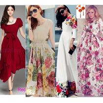 Moda Japonesa Oriental Asia Vestido Largo Maxidres Env Grati