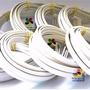 10 Un Tiara Plástico Branca 10mm Montagem Encapar Forrar