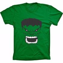 Blusa Hulk Super Herois Masculina Feminina E Infantil