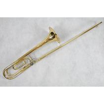 Trombone De Vara Tenor Dolphin Laqueado Fá/sib