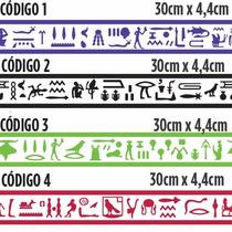 Faixas Adesivas Egípcias Hieroglifos Rodapé Rodateto Stick