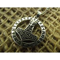Pingente Mjolnir Viking Martelo De Thor Círculo Rúnico